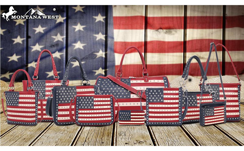 American Pride Flag Handbag for Women