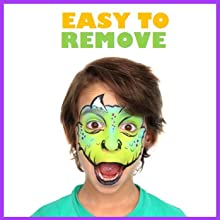 Easy on Easy off water activated hypoallergenic vegan non-toxic gluten freeface and body paint