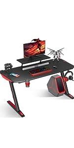 T shaped legs gaming desk