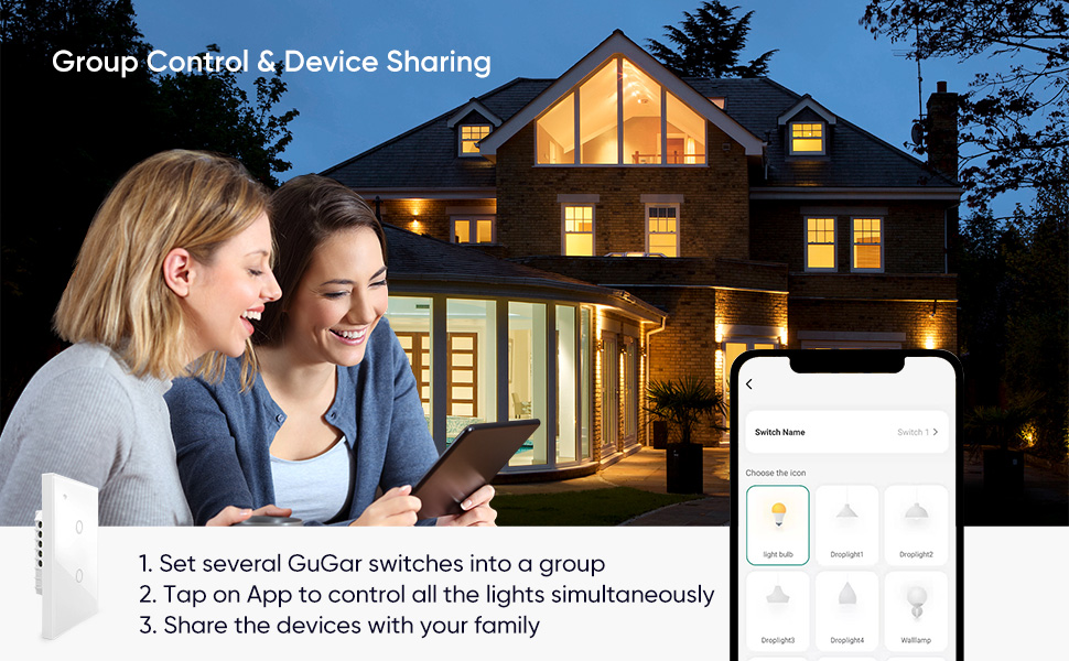 group control & device sharing