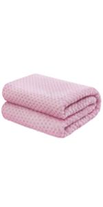 baby fleece blanket girls boys light pink
