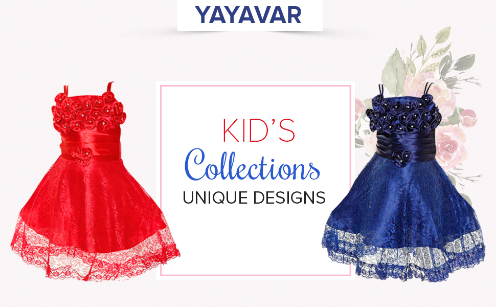 YAYAVAR Unique designs girls special dress for party marriage birthday