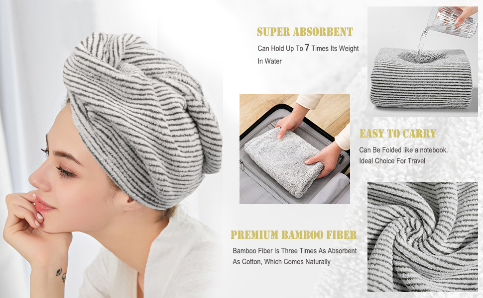 bamboo head towel wraps