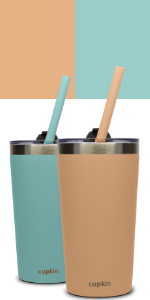 green peach teal stainless steel kids cups lids straw