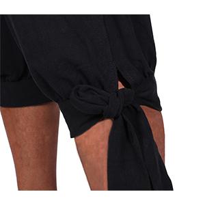 Medieval Viking Lace Up Knicker Gothic Pants Knee Length Cotton Linen Shorts Mens Renaissance Pirate Costume