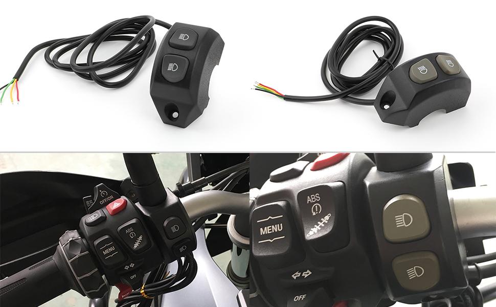 Motorrad Schalter für Zusatzscheinwerfer