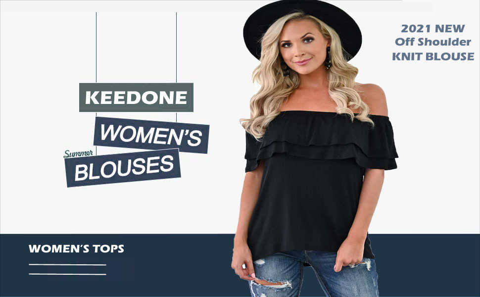 Brown shirt white shorts big tits popup ads Keedone Women S Casual Off Shoulder Ruffle Tops Short Sleeve T Shirts Loose Summer Blouses Shirt At Amazon Women S Clothing Store