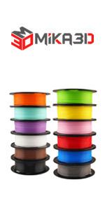 12 in 1 Normal PLA filament bundle