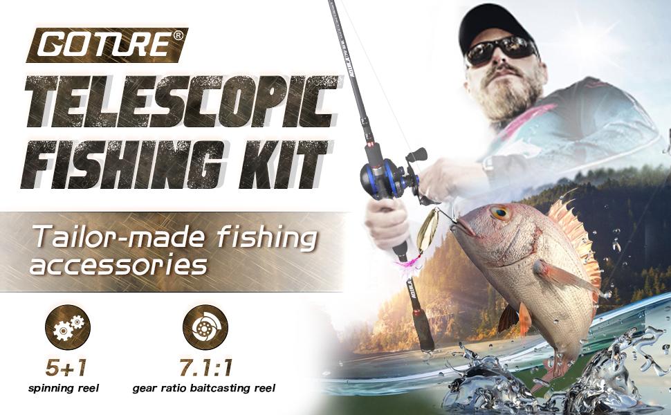 telescopic fishing kit