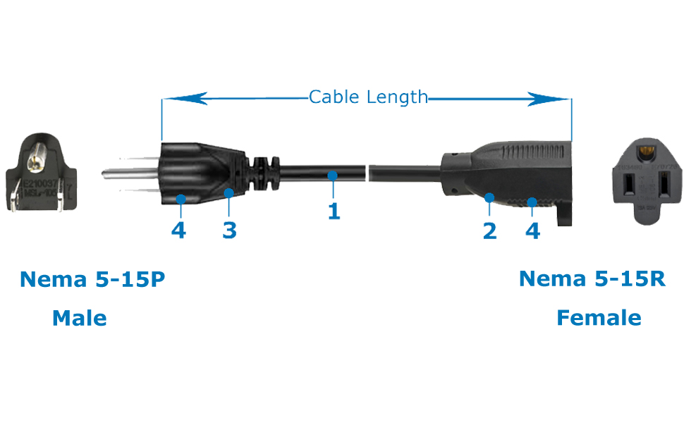 cable for power supply, power cable 3 prong, power supply extension cable, ac power cable