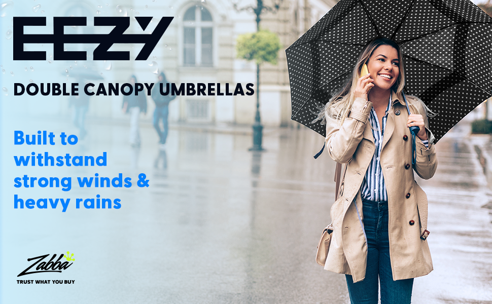 Amazon Com Windproof Travel Umbrella Compact Double Vented Folding Umbrella Automatic Open Close Button Portable Lightweight Outdoor Golf Rain Umbrellas Uv Protection Jet Black