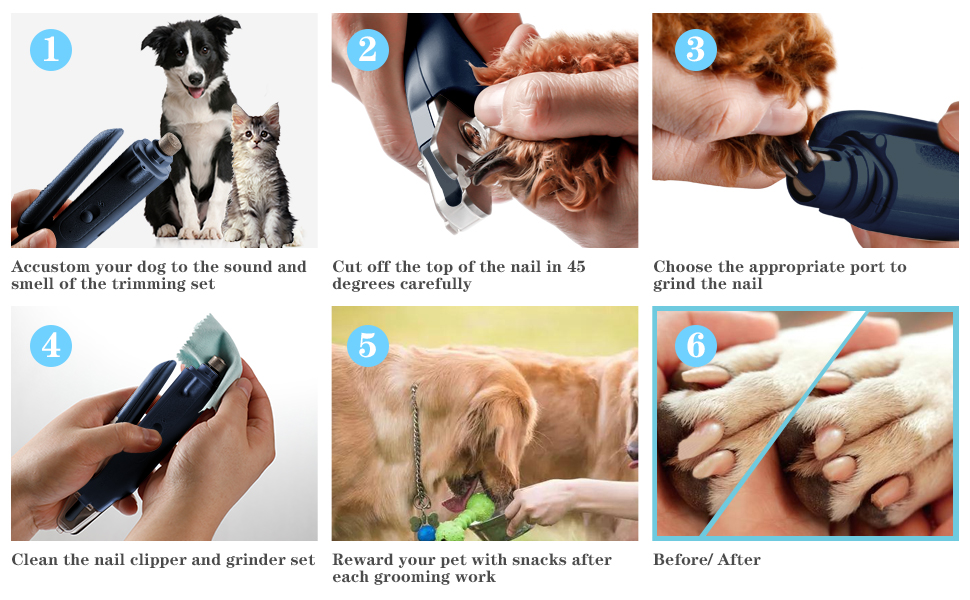 How To Use the Pet Nail Clipper and Grinder Set Correctly