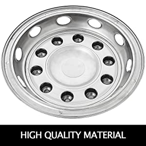 22.5 UNIVERSAL GMC STAINLESS STEEL FRONT WHEEL RIM SIMULATOR HUBCAP COVERS ©