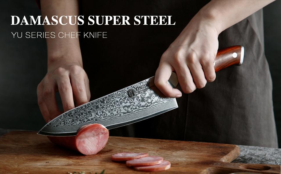 DAMASCUS SUPER STEEL YU SERIES CHEF KNIFE