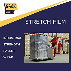 Stretch Film for Moving Shrink Wrap Pallet Plastic Wrap for Furniture Cling Film Heavy Duty