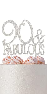 90 cake topper 90th birthday party decorations decoration ninety toppers
