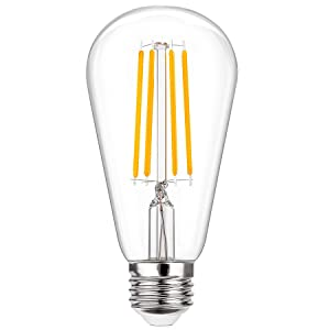 includes a power saving LED bulb