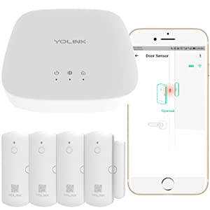 Yolink door sensor with hub