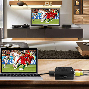 Ozvavzk HDMI a AV,HDMI a RCA Adaptador Compuesto HDMI Audio Vídeo ...