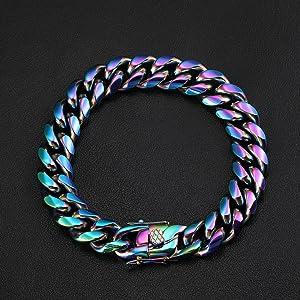 Colorful Stainless Steel Bracelets for men women