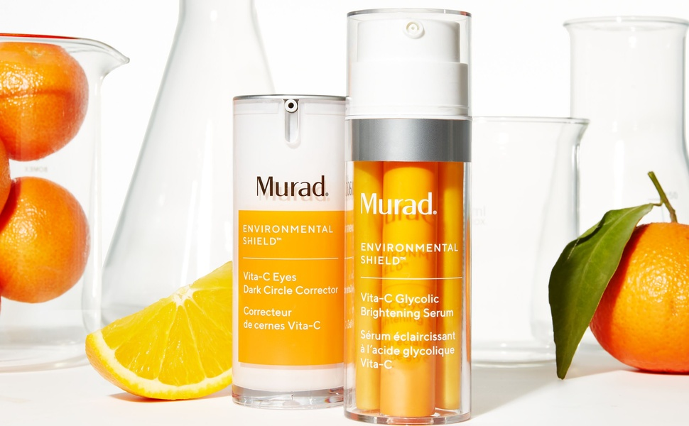 Amazon.com: Murad Environmental Shield Vita-C Glycolic Brightening Serum - Vitamin  C Face Serum - Gold Stabilized Vitamin C Serum for Face with Glycolic Acid  - Skin Brightening Serum for Face, 1.0 Fl