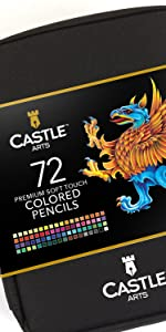 72 Piece Colored Penci Zip Up Travel Set