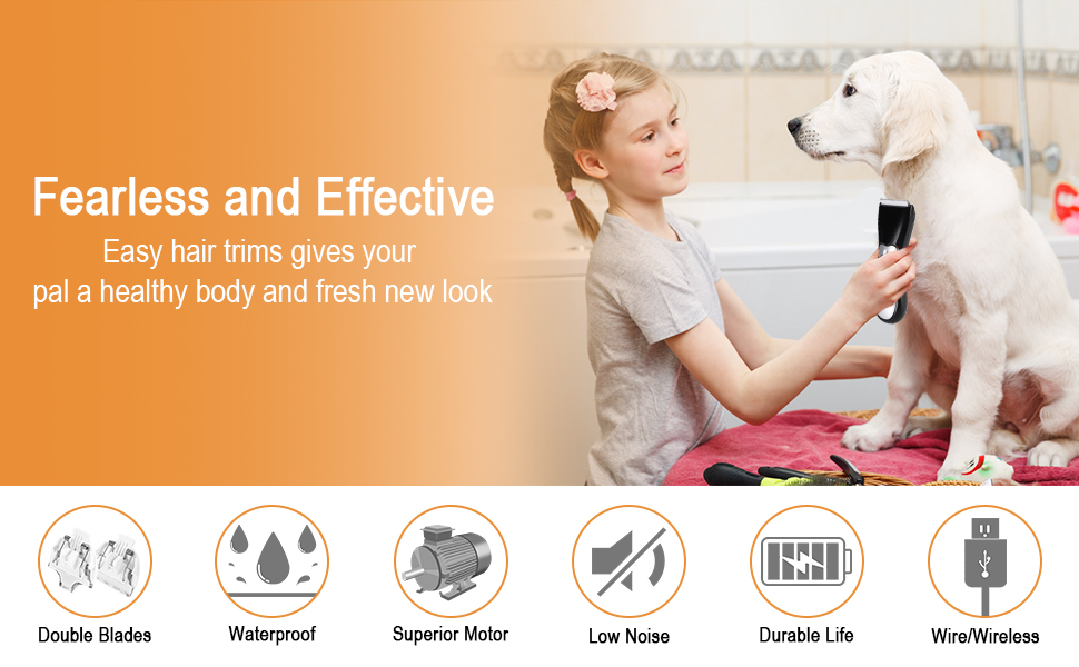 Dog Grooming Clippers Kit
