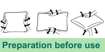 preparation before use - Full diastole