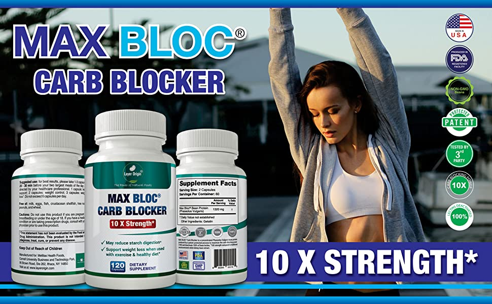 Max Bloc Carb Blocker, Weight Loss, Weight Control, Keto Diet