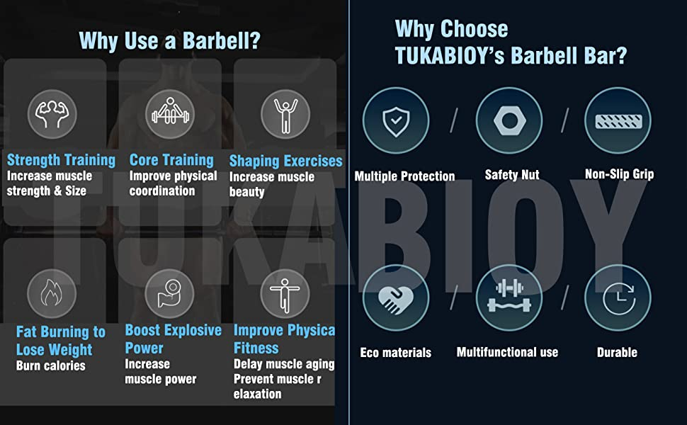 Why choose TUKABIOY's barbell bar
