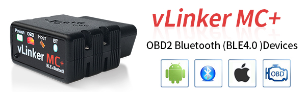 BLE4.0 TONWON vgate vLinker MC Bluetooth BLE4.0 OBD2 Diagnostic Scanner for Android /& iOS /& Windows