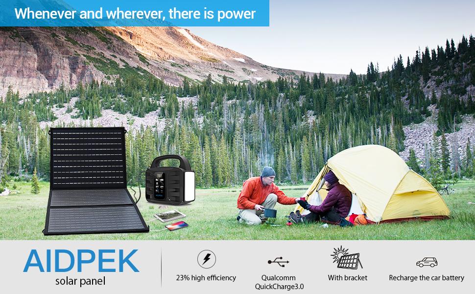 60W Foldable Solar Panel  camp