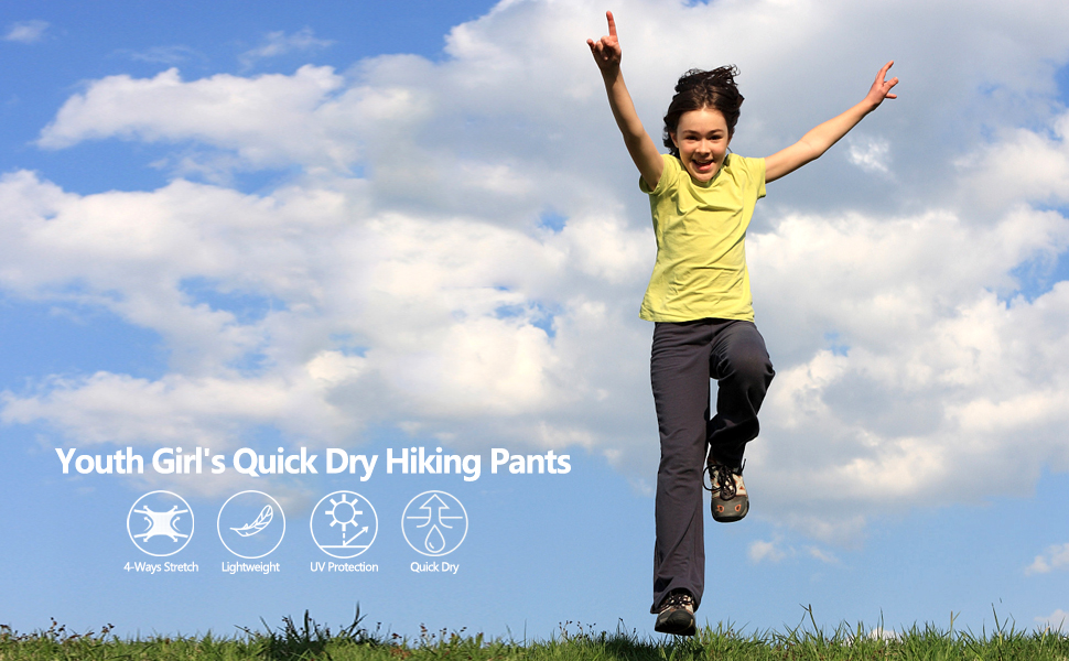 Youth Girl Quick Dry Hiking Pants
