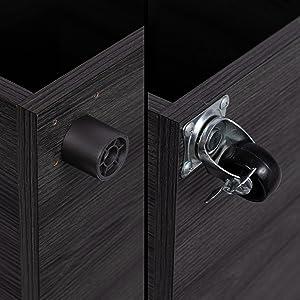 file box, rolling file box, file cabinet, decorative, wood file storage, office organization