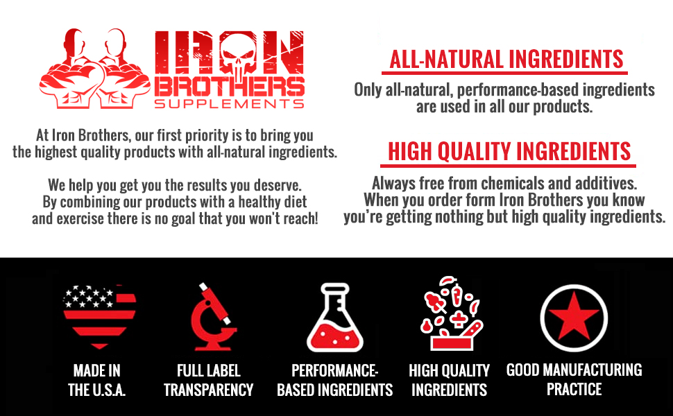 made in the USA premium ingredients, premium supplements, all natural ingredients