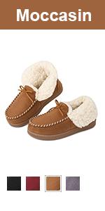 longbay women moccasin slipper boots