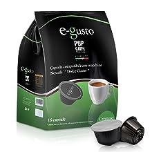 NESCAFE DOLCE GUSTO COMPATIBILE 96 capsule POP CAFFÈ E-GUSTO M. 2 CREMOSO cialde