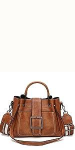 damen henkeltasche braun handtasche