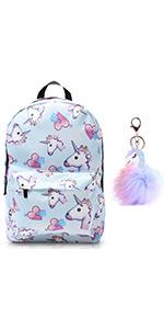 Unicorn Backpack Lightweight Water Resistant Cute Rainbow Student Backpacks