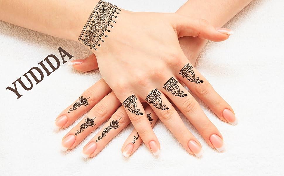 Hands tattoos temporary malon