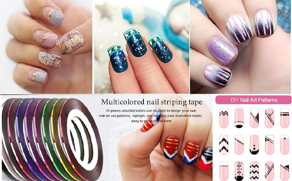 Self adhesive 10 nail strips
