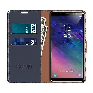 Funda Samsung Galaxy A6 2018, Coodio Funda Cuero Samsung A6 2018 ...