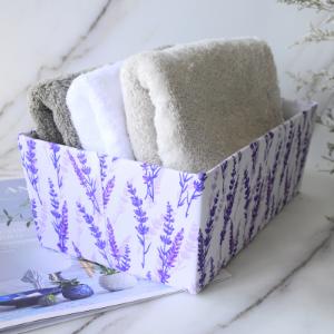 Boîte élégante en tissu cosmétique