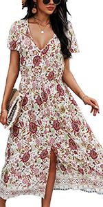 women summer casual fashion cute loose fit short sleeve mini dress beach mini bohemian dress