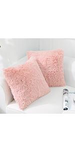 Pink throw pillow 18*18