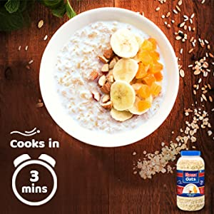 Manna Steel Cut Rolled Oats cook in just 3 minutes. So, there's never a reason to skip breakfast