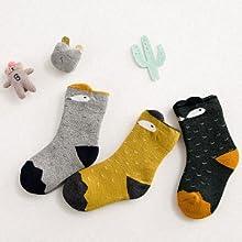 ZFSOCK 6 Paar Kindersocken Bunte M/ädchen Thermo Winter Socken mit Frotteefutter Jungen Baumwolle Lustige Niedliches Tiermuster Socken f/ür Gr/ö/ße 20-34 2-11 Jahre alt
