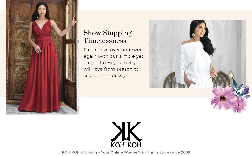 KOH-KOH-Womens-Long-Sleeve-V-Neck-Casual-Semi-Formal-Beautiful-Maxi-Dress-Gown-Black maxi dress