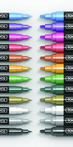Metallic Acrylic Paint Pens 24 Extra Fine and Medium Tips