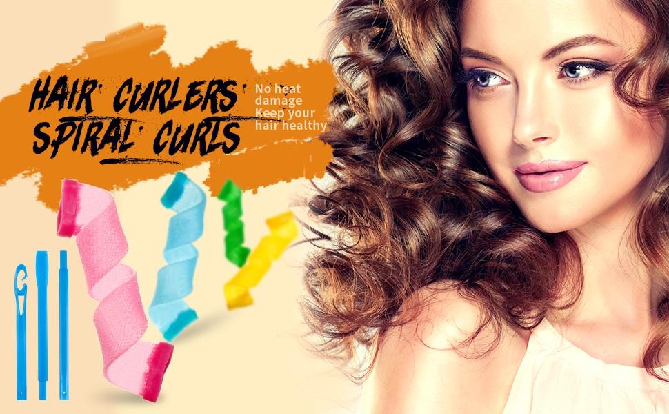 hair curler roller for hair no heat hair curling kit